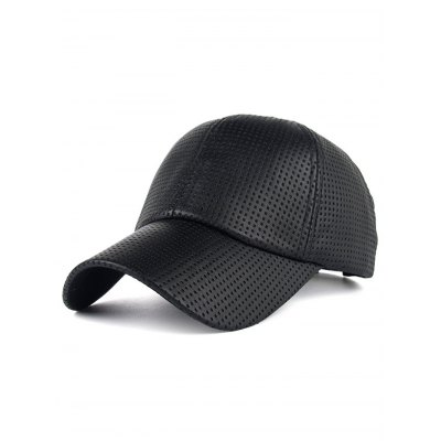 Breathable PU Leather Small Holes Design Baseball Hat
