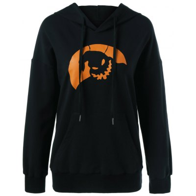 Halloween Drop Shoulder Hoodie