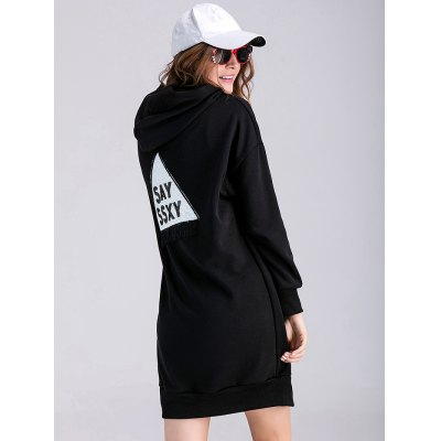 Thicken Applique Zipped Maternity Hoodie