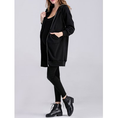 applique-thicken-zipped-maternity-hoodie