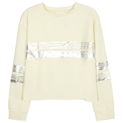 Contrast Metallic Stripe Sweatshirt