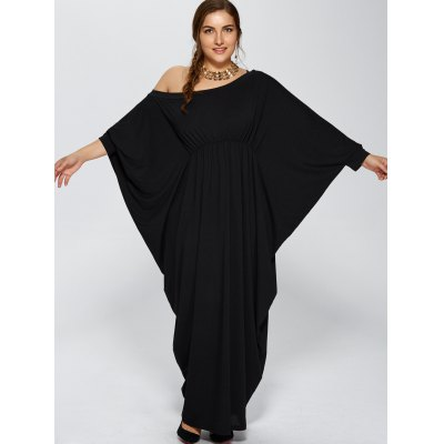 Plus Size Skew Neck Batwing Sleeve Maxi DressPlus Size Dresses<br>Plus Size Skew Neck Batwing Sleeve Maxi Dress<br><br>Style: Novelty<br>Material: Polyester<br>Silhouette: Asymmetrical<br>Dresses Length: Floor-Length<br>Neckline: Skew Collar<br>Sleeve Length: 3/4 Length Sleeves<br>Pattern Type: Solid<br>With Belt: No<br>Season: Fall,Spring<br>Weight: 0.590kg<br>Package Contents: 1 x Dress