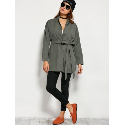 Wrap Front Trench Coat