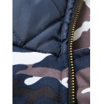 Zip Up Camouflage Fur Hooded Padded Coat photo