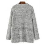cheap Open Front Knitted Cardigan with Pockets