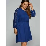 cheap Plus Size Lace Sleeve Shirt Dress
