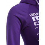 Snowflake Elk Print Christmas Longline Purple Hoodie for sale