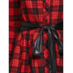 PU Belted Tartan Shirt photo