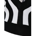 Striped Color Block Pullover Knitwear for sale