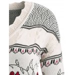 Plus Size Floral Pattern Scalloped Edge Sweater deal