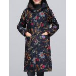 Ethnic Style Paint Quilted  Jacket