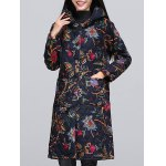 cheap Ethnic Style Paint Quilted  Jacket