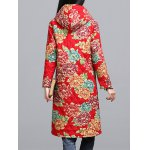 Ethnic Style Floral Paint Quilted Jacket deal