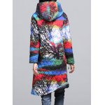 Ethnic Style Color Block Paint Quilted Coat deal