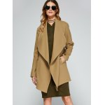 cheap Asymmetric Trench Coat With Belt