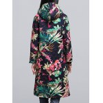 Ethnic Style Leaf Paint Quilted Jacket deal