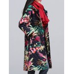 cheap Ethnic Style Leaf Paint Quilted Jacket