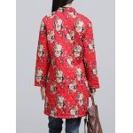 Chinese Style Floral Paint Quilted Jacket deal