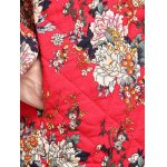 best Chinese Style Floral Paint Quilted Jacket