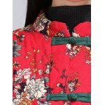Chinese Style Floral Paint Quilted Jacket for sale
