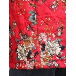 Chinese Style Floral Paint Quilted Jacket photo