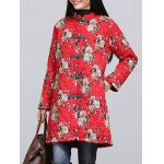 cheap Chinese Style Floral Paint Quilted Jacket