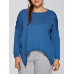Plus Size High Low Pullover Sweater