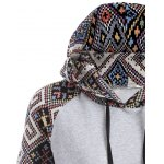 Jacquard Drawstring Pullover Hoodie for sale