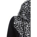 Zip Up Leopard Jacquard Hoodie for sale