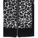 Zip Up Leopard Jacquard Hoodie photo