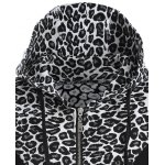 Zip Up Leopard Jacquard Hoodie deal