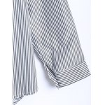 Letter Patched Striped Number Embroidered Shirt for sale