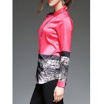 Abstract Painting Slim  Fit Satin Shirt deal