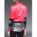 Abstract Painting Slim  Fit Satin Shirt for sale