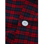 Tartan Splicing Long Sleeve Shirt for sale