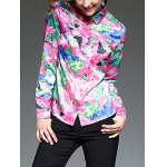cheap Multicolor Printing Slim  Fit Satin Shirt