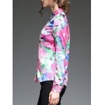 Multicolor Printing Slim  Fit Satin Shirt for sale