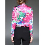 best Multicolor Printing Slim  Fit Satin Shirt