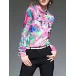 Multicolor Printing Slim  Fit Satin Shirt deal