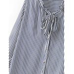 Bowknot Tie Striped Blouse deal
