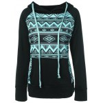 Front Pocket Christmas Print Pullover Hoodie