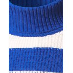 cheap Slim Fit Roll Neck Striped Sweater