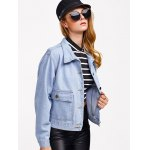 best Pocket Design Bleach Washed Denim Jacket