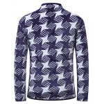 3D Dart Print Stand Collar Quilted Jacket deal