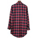 cheap Plaid BF Style Shirt