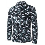 cheap 3D Camouflage Print Stand Collar Quilted Jacket