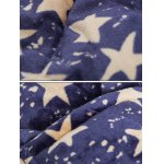 best 3D Stars Print Stand Collar Quilted Jacket