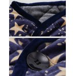 3D Stars Print Stand Collar Quilted Jacket for sale