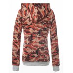 cheap Fitted Camo Printing Hoodie