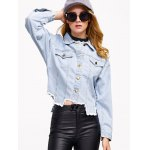 Denim Asymmetrical Hem Jacket deal